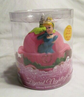 "New Disney Princess Figural Glowing Lamp Cinderella Night Light 6"" X 4"""