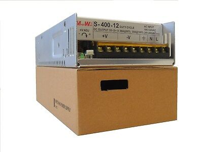 400 Watt 9 - 15 DC Volts Adjustable 36 Amp Power Supply 40A Real MegaWatt® 12 V