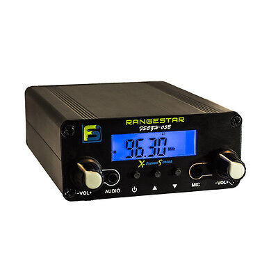 500 mW 0.5 W RANGESTAR FM TRANSMITTER - LONG RANGE ANIMATED CHRISTMAS LIGHTSHOWS