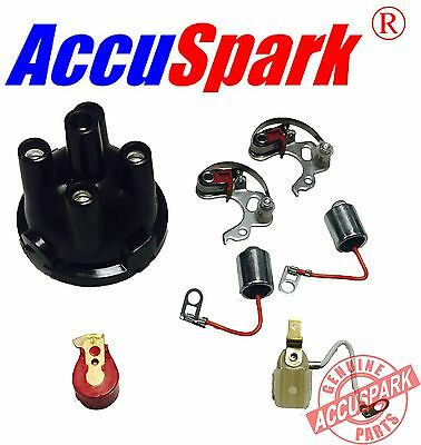 MGB Points,condenser, red rotor arm ,top cap, service kit Lucas 25D Distributor