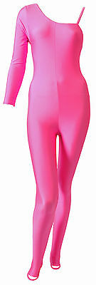 Lycra Catsuit One Long Sleeve with Spagetti Strap - Flo Colours (#SHOLA)