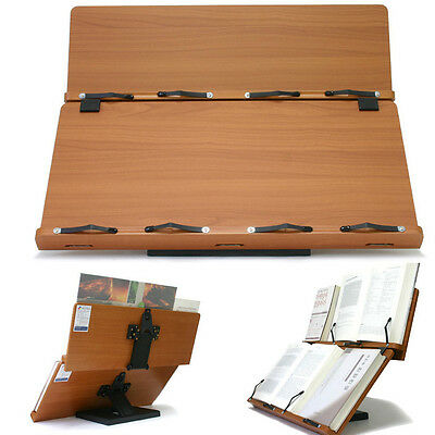 """Largest Book Stand Portable Wooden Reading Desk Holder 23.6""""x8.7"""" + 23.6""""x11.8"""""""