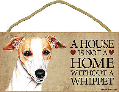 Whippet Wood Dog Sign Wall Plaque Photo Display 5 x 10 - House Is Not A Home ...