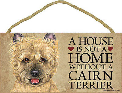 Cairn Terrier Wood Dog Sign Wall Plaque Photo Display 5 x 10 – House Is Not A...