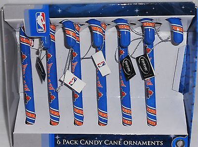 New York Knicks 6 Pack Candy Cane Ornaments
