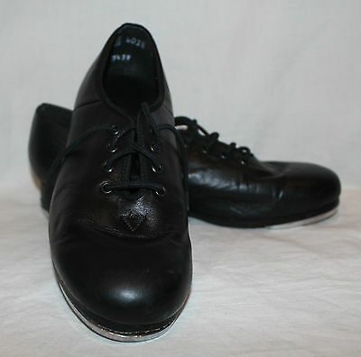 Leo's 4028 Women's Size 6M Black Jazz Lace Up Tap Shoes Pre-owned w/ Defects