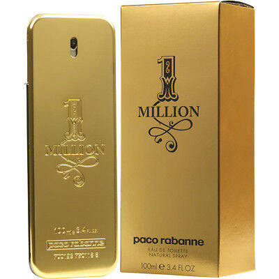 ONE MILLION 100ml EDT SPRAY BY PACO RABANNE ---------------- NEW PERFUME FOR MEN