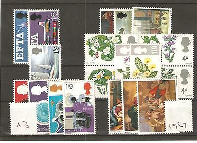 wbc. - GB - COMMEMS - 1967 - SIX UNMOUNTED  MINT SETS