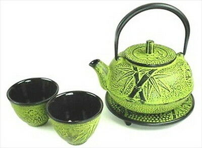 Japanese Cast Iron Tea Set Teapot Teacups Kettle #TS20-06Y S-2109