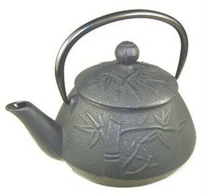 Black Japanese Tetsubin Cast Iron Teapot Kettle 24oz 15349 S-2557