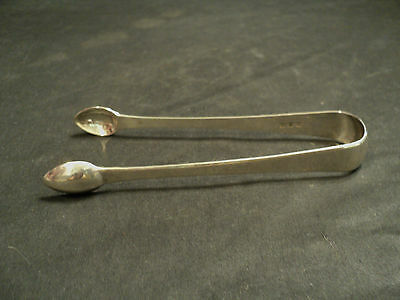 LOVELY PAIR OF ANTIQUE GEORGIAN STERLING SILVER SUGAR TONGS, c. EARLY 1800's