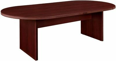 New Amber 8' Racetrack Office Conference Table for Boardroom Meeting Room