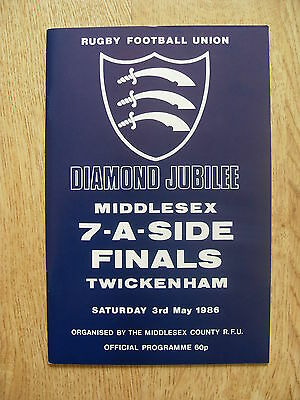 Middlesex Sevens 1986 Rugby Programme