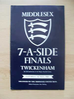 Middlesex Sevens 1965 Rugby Programme