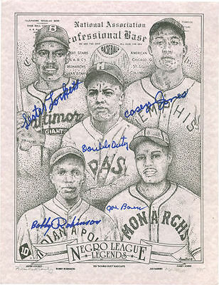 "Negro League Legends Signed Art Print - Ted ""Double Duty"" Radcliffe,"
