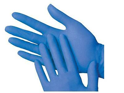 Blue Catering & First Aid Nitrile Gloves - Size LARGE