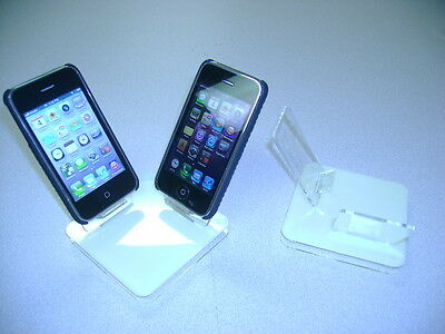 LOT 10 NEW STAND HOLDER CELL PHONE DISPLAY 2 in 1 OFF WHITE