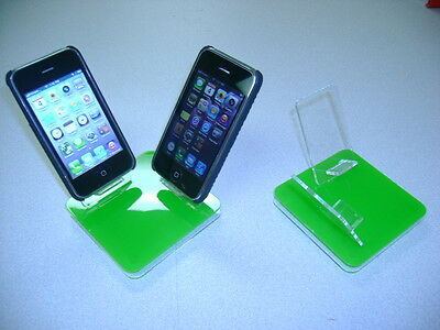 LOT 10 NEW STAND HOLDER CELL PHONE DISPLAY 2 in 1 GREEN