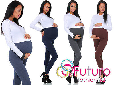 Thick Comfortable Maternity Cotton Leggings Full Ankle Length PREGNANCY