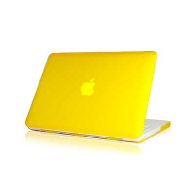 "NEW Rubberized Yellow Hard Case Cover for Macbook White 13"" A1342"