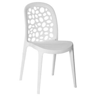 Chair Commercial Restrauant Cafe Stackable Seats Dining Chairs Grace White