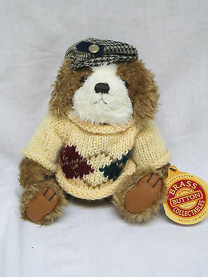 New 1997 Plush Pickford Brass Button Augie Dog Of Friendship Bear With Hat 8""