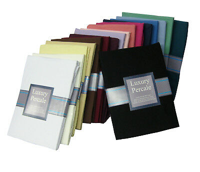 QUALITY PERCALE FLAT Sheets in 23 Colours & 4 Sizes. 180 Thread Count. Non Iron