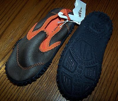 1be38c5b3452 NWT OLD NAVY Brown and Orange WATER BEACH SHOES Child SIZE 6