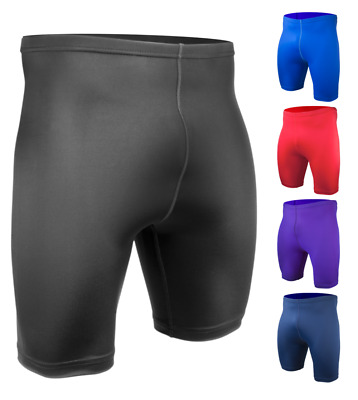 Mens Spandex Exercise Compression Fitness Workout Short Running Shorts USA Made
