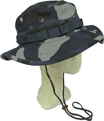 1298880ea01 Sky Blue Camouflage Bush Hat Boonie Cap Giggle With Neck Strap Cotton All  Sizes