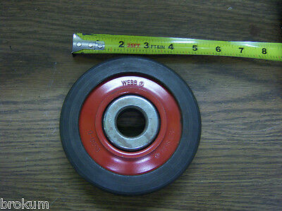 Webb 6500-D Red Seal Trolley Wheel For Conveyors New