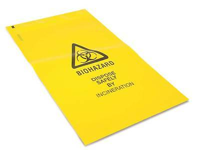 Biohazard Yellow Bags Sacks - Safe Disposal of Clinical Waste Self Seal 20x30cm