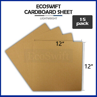 "15 12x12 Chipboard Cardboard Craft Scrapbook Scrapbooking Sheets 12""x12"""