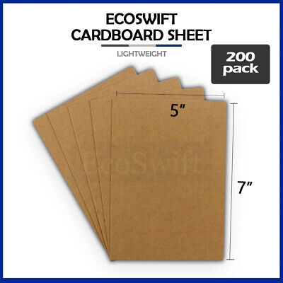 "200 5x7 Chipboard Cardboard Craft Scrapbook Scrapbooking Sheets 5""x7"""