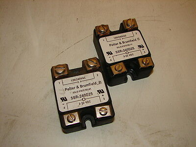 Potter & Brumfield Ssr-240D25 Solid State Relay (Lot Of 2) *xlnt*