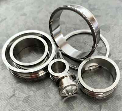 PAIR Steel Screw Fit Tunnels Ear Plugs Earlets Gauges