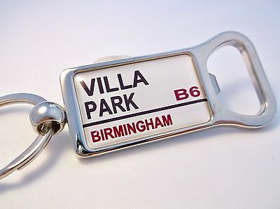 Aston Villa Stadium Badge Street Sign Bottle Opener Keyring Gift