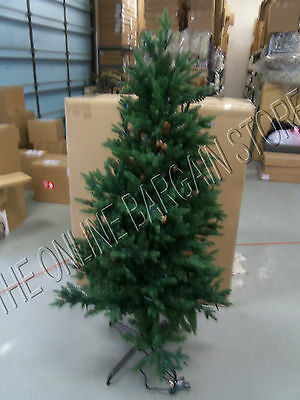 1 Frontgate Christmas Hyde Park Pathway Tree Pre Lit Clear White Lights 5'