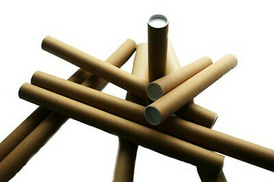 """10x Postal Tubes Size A2 2x18"""" / 45x460mm Document Poster Mailing Postage Mail"""