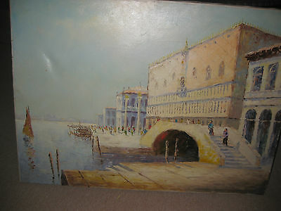 """Doge's Palace in Venice, by Ricco Azzuro, oil on canvas painting 24"""" x 20"""""""