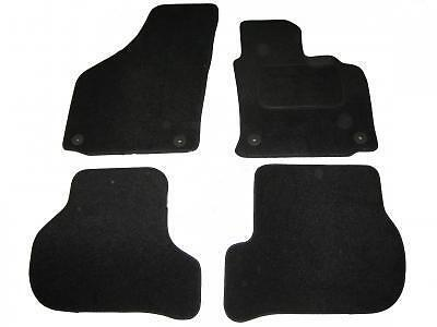 Vw Golf Mk5 Tailored Carpet Car Floor Mats Black 2007-On   Round Clips