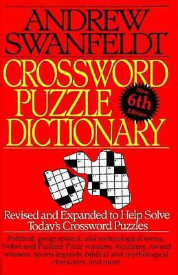 Crossword Puzzle Dictionary: Sixth Edition by Andrew Swanfeldt (English) Paperba