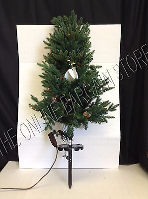 2 Frontgate Christmas Hyde Park Pathway Outdoor Tree Lights 3' w/ stake colored
