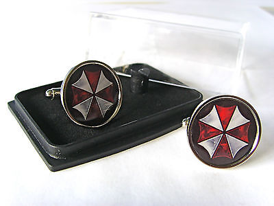 Resident Evil Umbrella Corporation Mens Cufflinks Gift