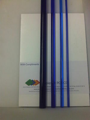 Blue Tinted Acrylic Pmma Perspex Round Rod / Soild Bar Translucent Colour 500Mm
