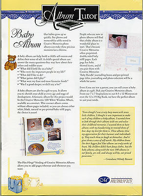 Creative Memories Baby Album Tutor 2003 Bn & Nla