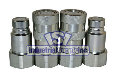 "(2-Sets) 3/4"" NPT Skid-Steer Hydraulic Quick Coupler"