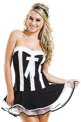 Sexy French Maid Xmas Party Cosplay Outfit Womens Fancy Dress Costume One Size
