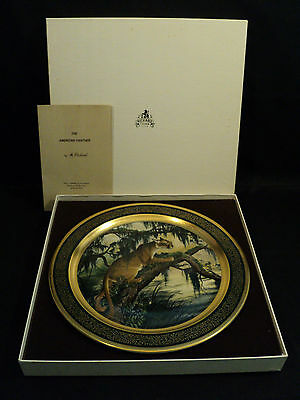"""James Lockhart """"american Panther"""" Pickard Porcelain Gilded Collector's Plate"""