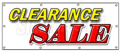 "36""x96"" CLEARANCE SALE BANNER SIGN retail sign signs store 50% off huge"